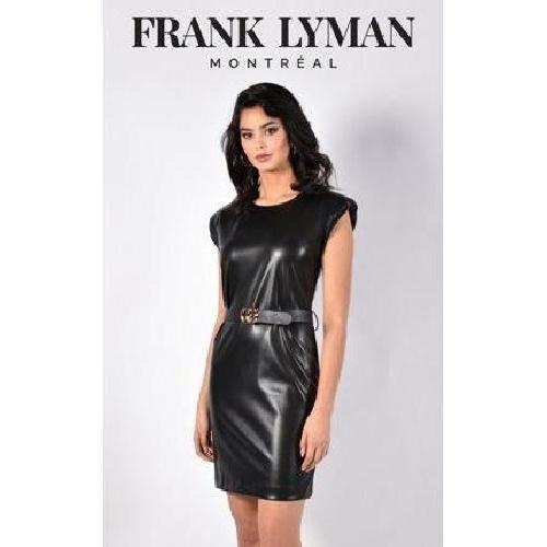 Frank Lyman Faux Leather Dress