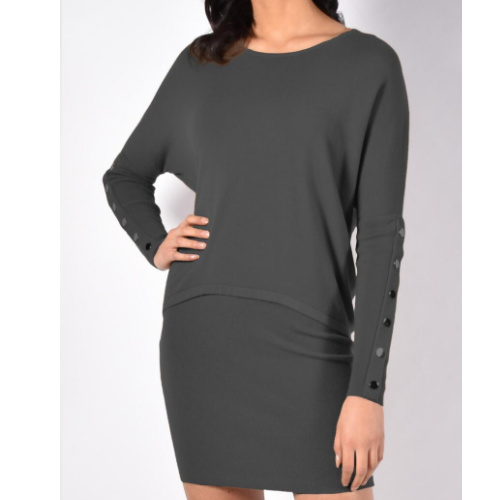 Frank Lyman Fitted Charcoal Sweater
