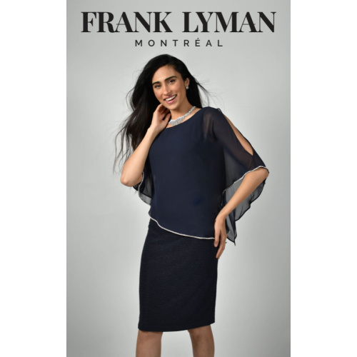 Frank Lyman Chiffon Sparkle Dress