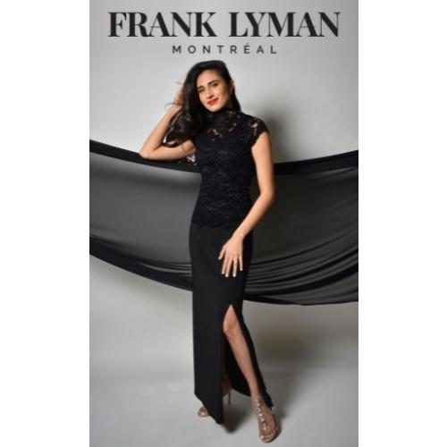 Frank Lyman Black Embossed Top