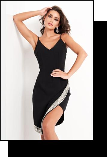 Jovani Asymmetrical Cocktail Dress