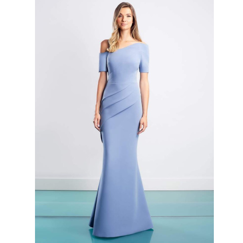ALEXANDER BY DAYMOR - 1451 SHORT SLEEVES ASYMMETRIC SHEATH DRESS at Helen Ainson in Darien CT for mother of the bride