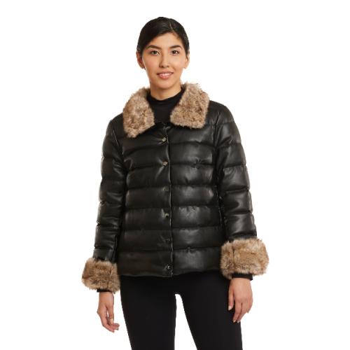 Black Vegan Puffer Jacket