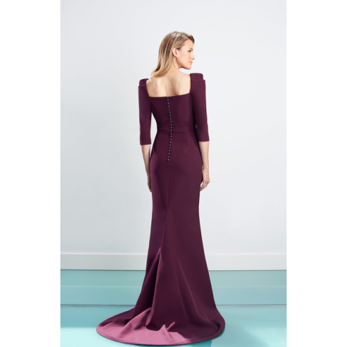 Daymor Square Neck Evening Gown