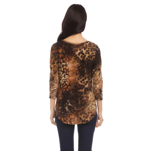 Karen Kane Tie Dye Burnout Shirttail Top 2