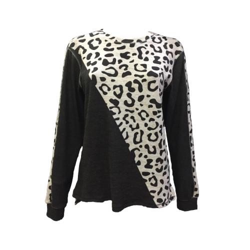 Cheetah Print Color Block Sweater