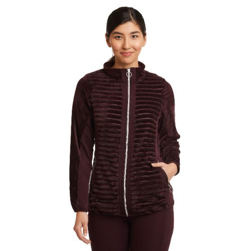 Zip-Up Ribbed Jacket